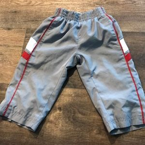 Nike athletic pants 12 months gray/red/white
